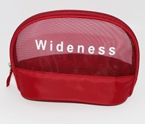 Mesh Cosmetic Bag, Red