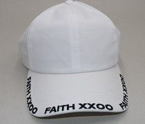 Men's Embroidered Baseball Cap, White