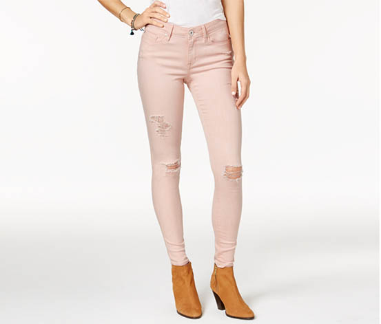 American Rag Ripped Mellow Wash Skinny Jeans, Rose