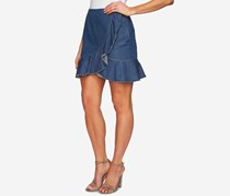 CeCe Cotton Ruffled-Hem Skirt, Authentic