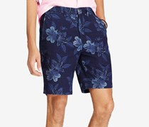 Ralph Lauren Men's Big Tall Classic-Fit Chambray Shorts, Vintage Tonal Hibiscus
