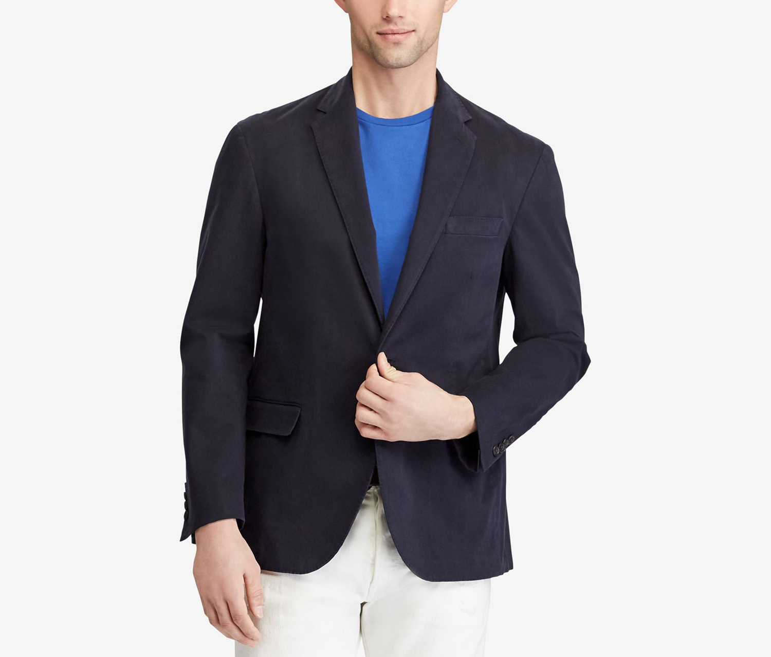 Men's Stretch Chino Sport Coat, Navy