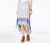 American Rag Cie Printed High-Low Skirt, Blue/White