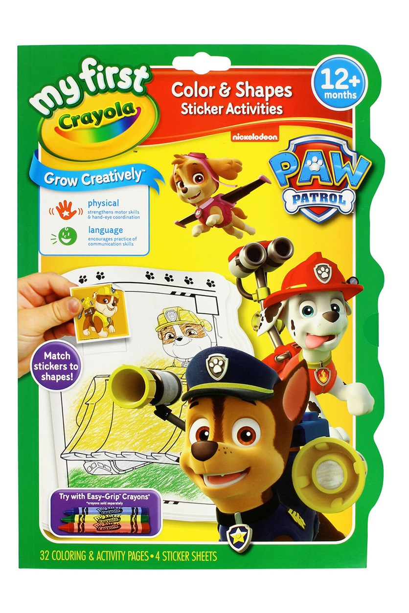 My First Crayola Colour & Activity Pad Paw Patrol, Yellow/Green