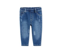 First Impressions Distressed Pull-On Jeans, Authentic Denim