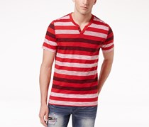 INC International Concepts Men's Striped T-Shirt, Red