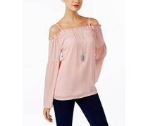 INC International Concepts Off-The-Shoulder Peasant Top, Rose Tint