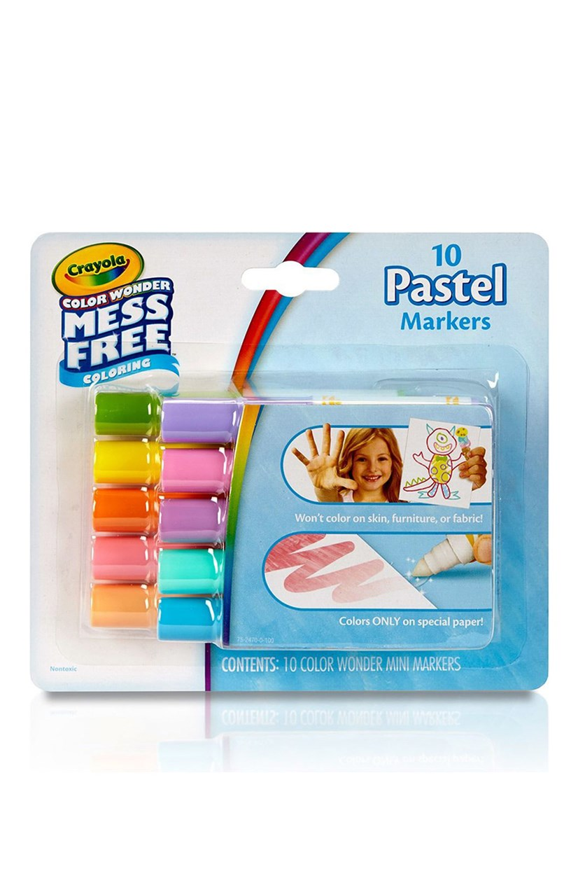 Pastel Color Wonder Mess Free Mini Markers, Blue