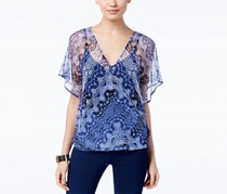 INC International Concepts Women's Top, Navy Blue