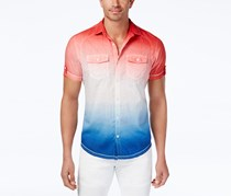 Inc Men's Ombre Popsicle Shirt, Red/Blue