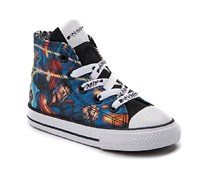 Converse Toddler Chuck Taylor All  Star Hi Justice League Sneaker, Black/Blue/White