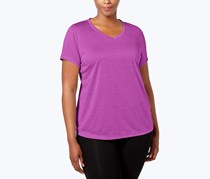 Ideology Plus Size Semi-Fitted Active Top, Purple Cactus