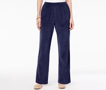 Alfred Dunner Women's Petites Velour Stretch Pants, Amethyst