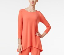 Alfani High-Low Jersey Tunic Top, Orange