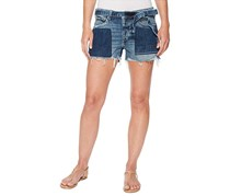 Lucky Brand Ripped Two-Tone Denim Shorts, Sidney