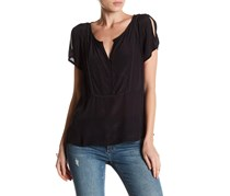 Lucky Brand Harper Embellished Top, Black