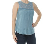 Lucky Brand Jacquard Illusion Top, Provincial Blue