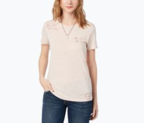 Lucky Brand Women's Embroidered T-Shirt, Blush