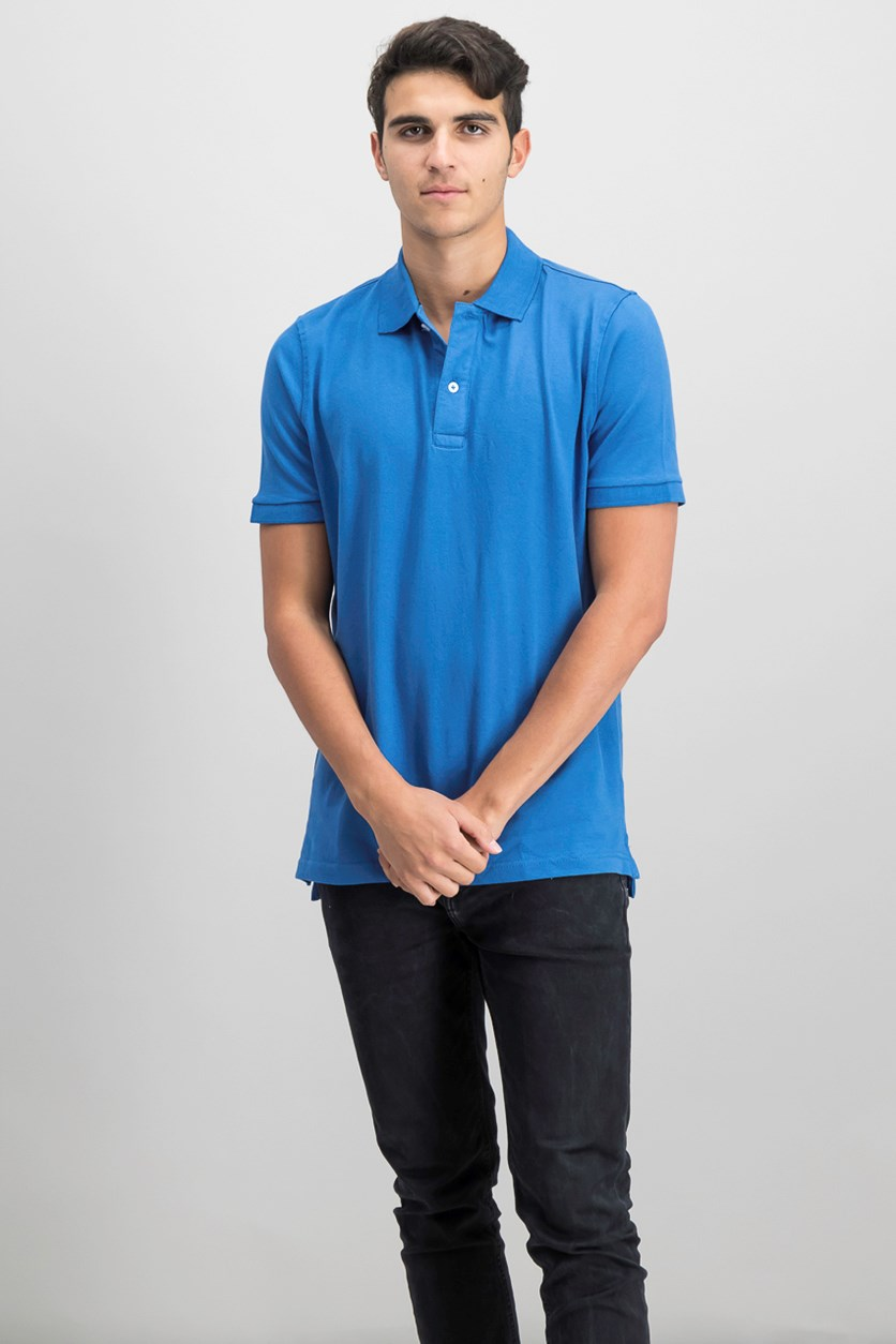 Mens Flex Polo Shirt, Blue
