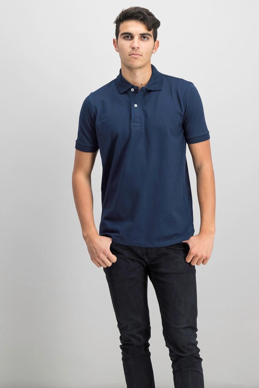 Mens Flex Polo Shirt, Navy