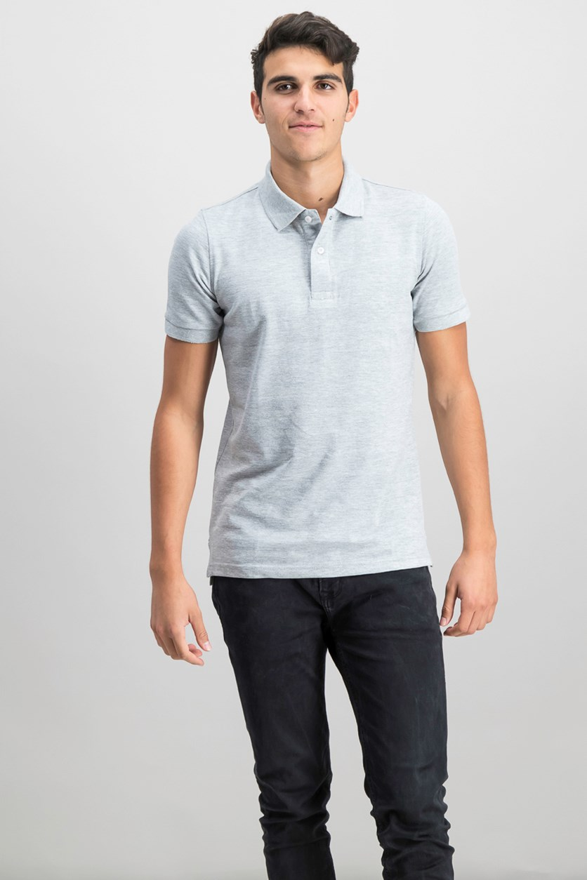 Mens Flex Polo Shirt, Grey