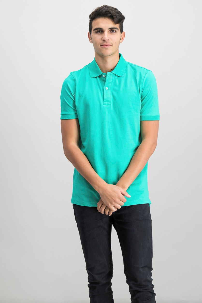 Mens Flex Polo Shirt, Green