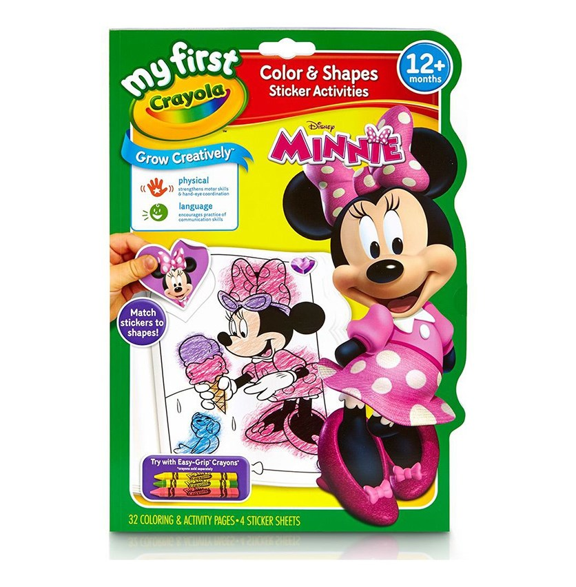 My First Colour & Activity Book - Minnie Mouse, Pink Combo