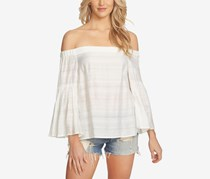 1.state Off-The-Shoulder Bell-Sleeve Top, Cloud
