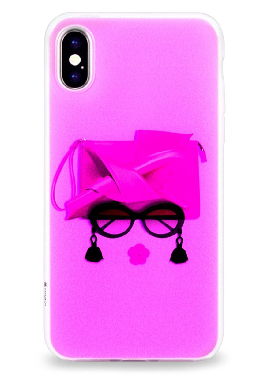 Designer Case For iPhone X, Fuchsia