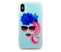 iOrigin Designer Case For iPhone X, Blue/Pink
