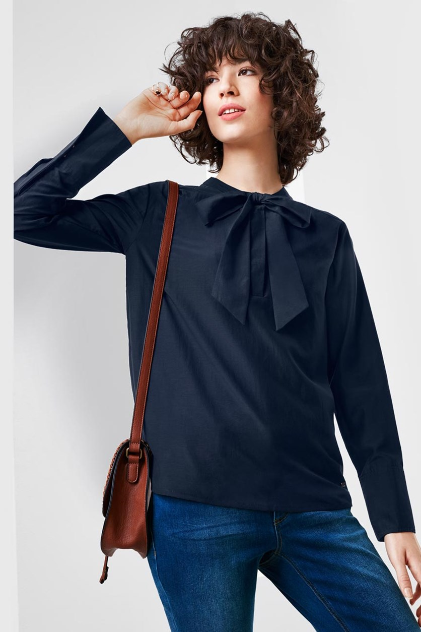 Women's Blouse, Dark Blue