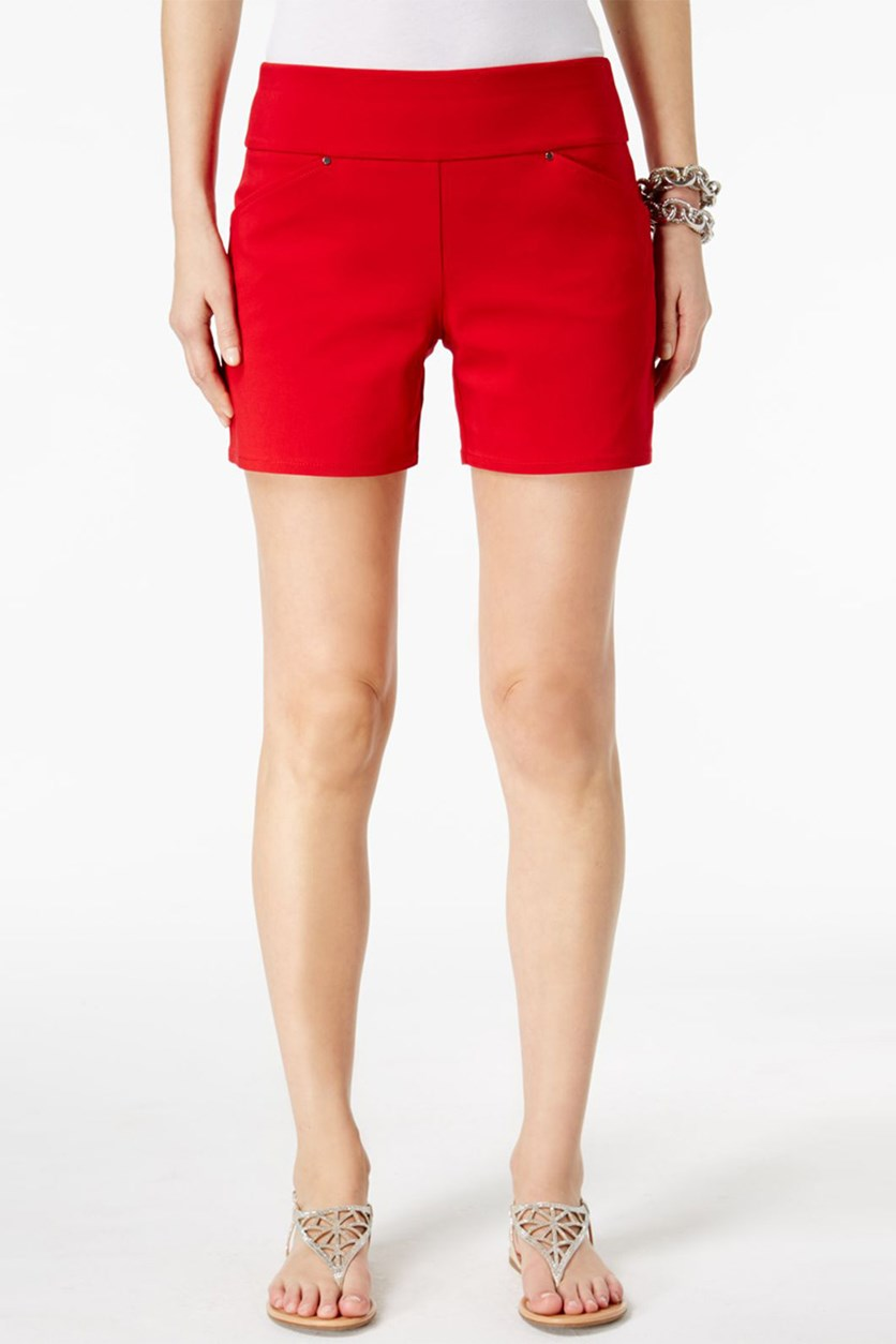 International Concepts Pull-On Shorts, Real Red