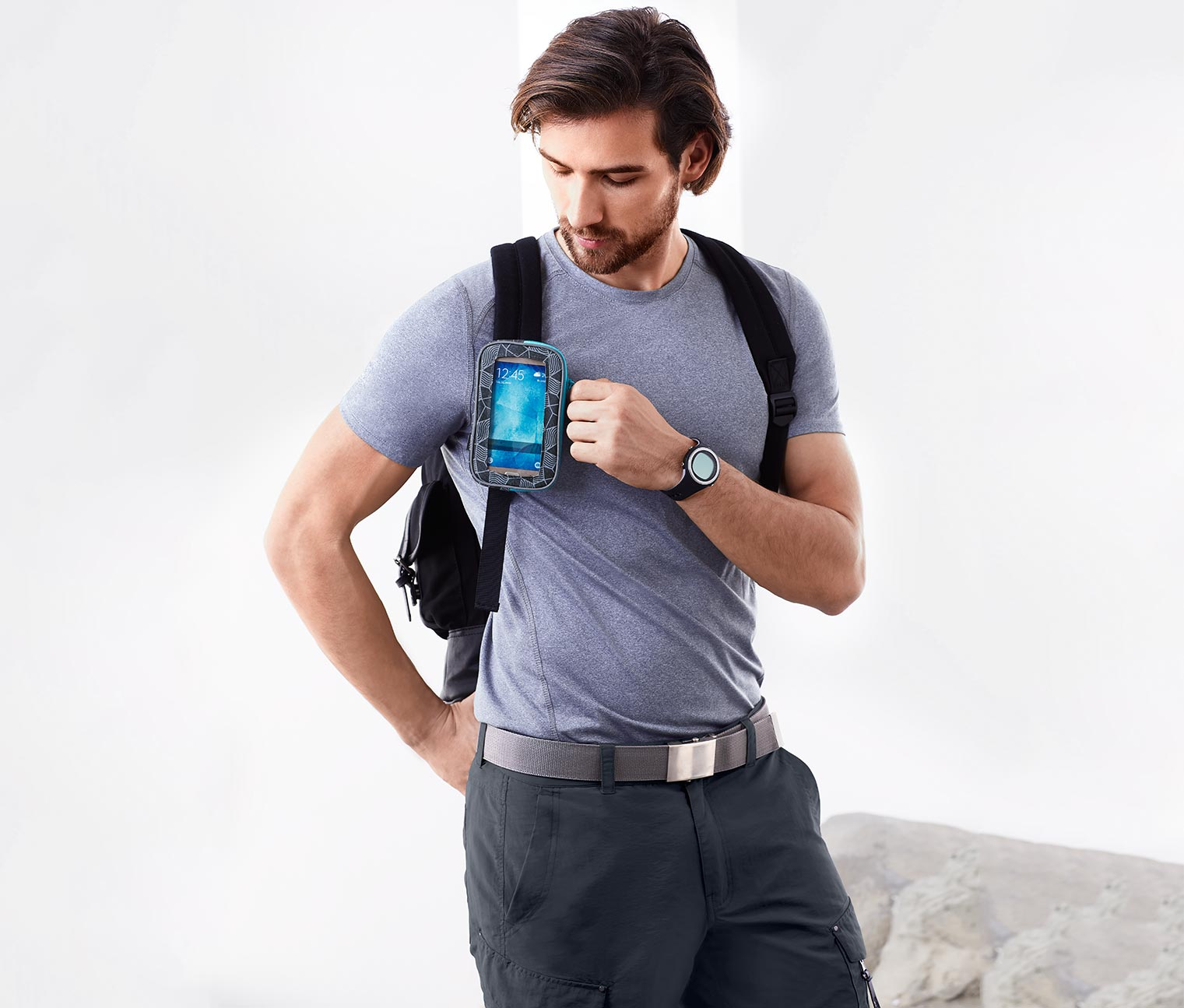 Multi-functional Bag With Window, Gray