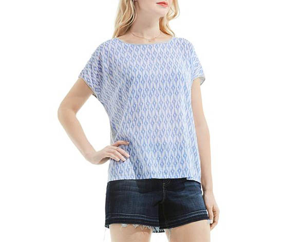 Two by Vince Camuto Women's Casual Top, Blue