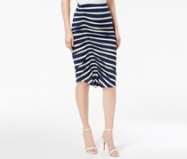 Vince Camuto Ruched Pencil Skirt, High Tide Stripe