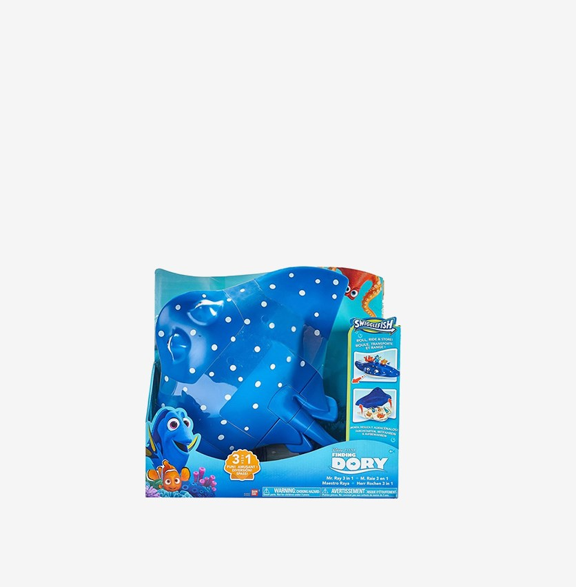 Finding Dory Swigglefish Mr. Ray 3-in-1 Storage Case, Blue Combo