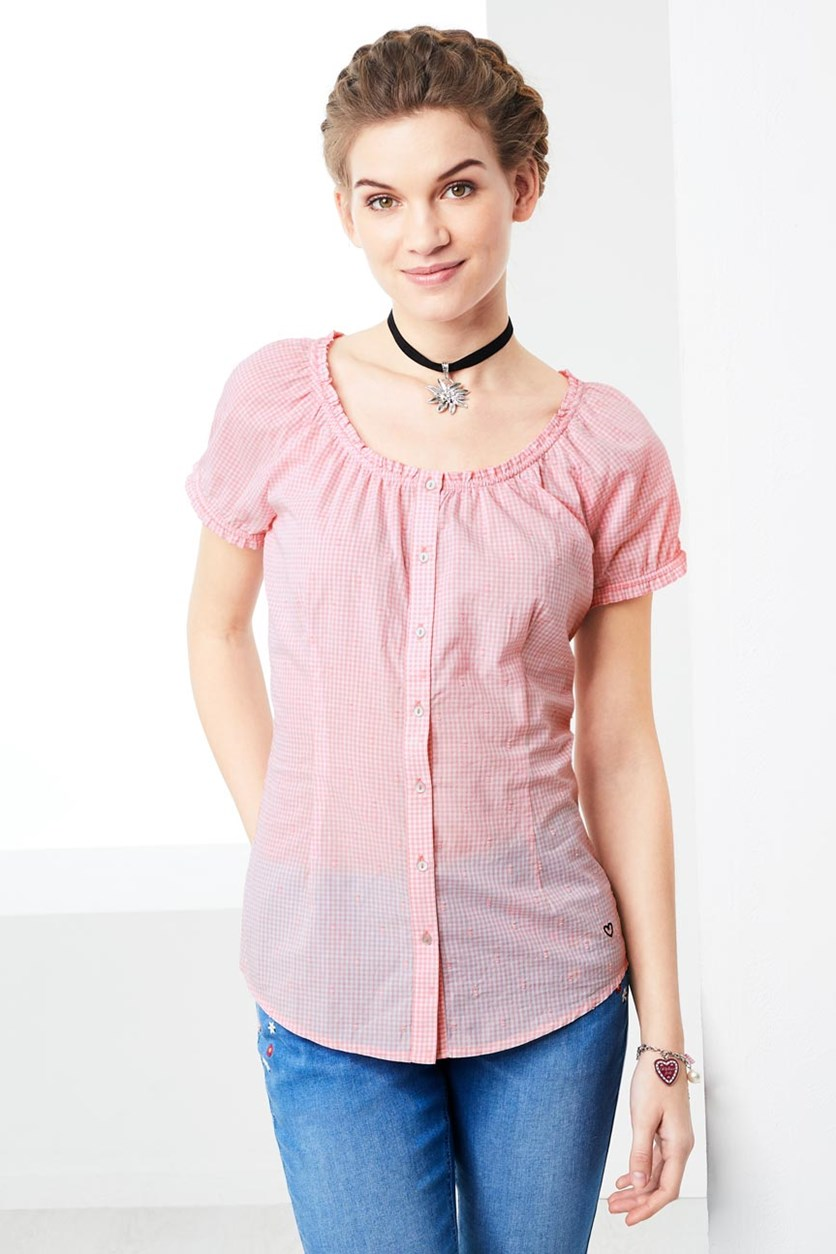 Women's Short Sleeve Shirt, Pink