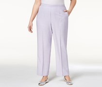 Women Plus Size Pull-On Pants, Lilac