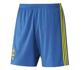 Adidas Boys Sport's Short, Blue/Yellow