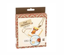Keycraft Make Your Own Owl Necklace Craft Kit, White/Brown