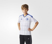 Adidas Football Jersey Bosnia and Herzegovina Away Jersey Shirt, White/Blue