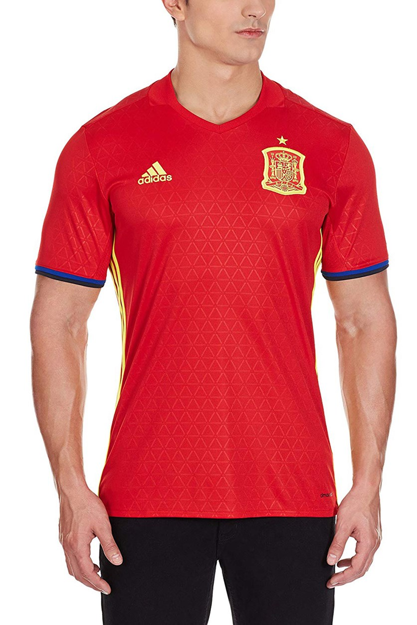 Spain Home Jersey, Scarlet/Yellow