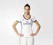 Adidas Real Madrid Home Replica Jersey, Crystal White/Raw