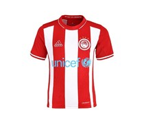 Olympiacos Unicef Home Football Jersey T-Shirt, Red/White