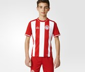 Adidas Olympiacos FC Home Football Jersey T-Shirt, Red/White