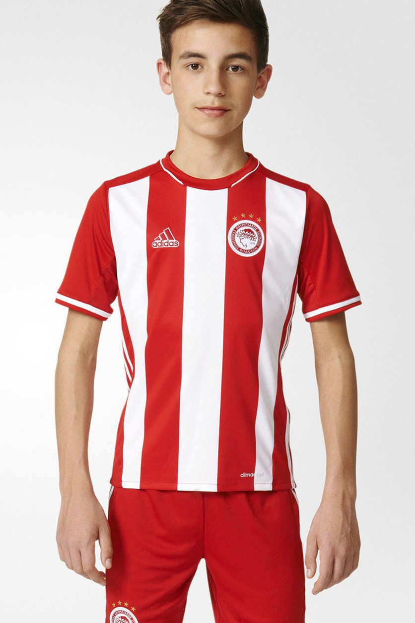 Olympiacos FC Home Football Jersey T-Shirt, Red/White