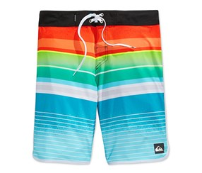 Quiksilver Men's Everyday Stripe Boardshorts, Orange/Green/Blue