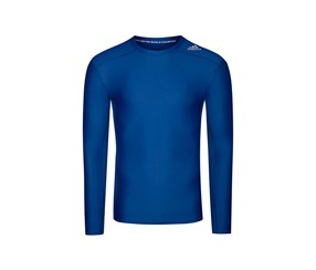 Adidas Men's Techfit Chill Shirt, Dark Blue