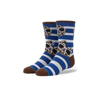 Stance Boys Dough Glassy Socks, Blue/White/Brown