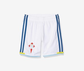 Adidas Boys Celta Home Football Shorts, White/Blue
